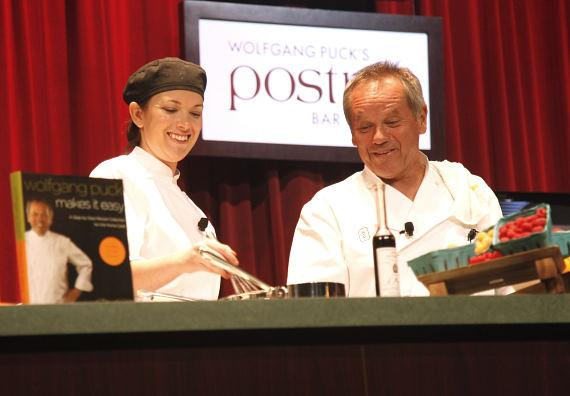 Wolfgang Puck hosts cooking demonstration at Venetian Showroom