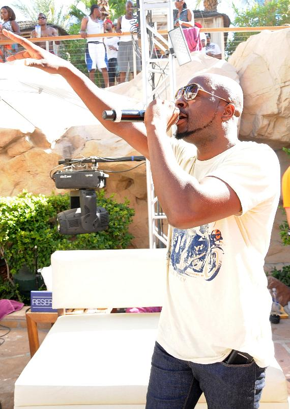 Wyclef Jean performs at REHAB Pool Party at Hard Rock Hotel in Las Vegas
