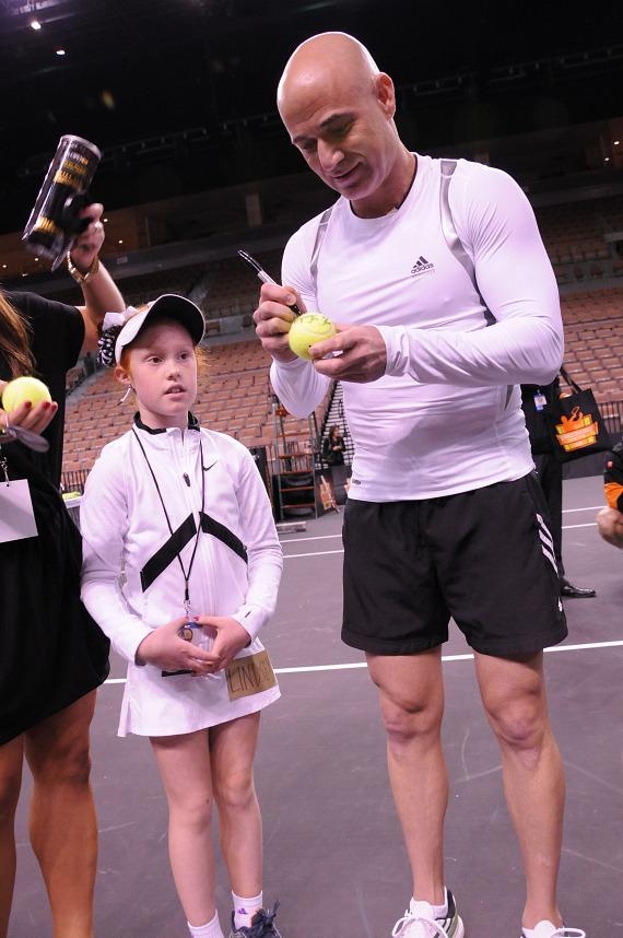 Andre Agassi Meets 'n Greets Fans at the 2012 PowerShares Series in Las Vegas