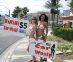 Bikini car wash at The Rio