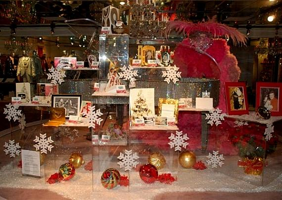 """Liberace's Christmas cards in the """"Blinging in the Season"""" exhibit"""