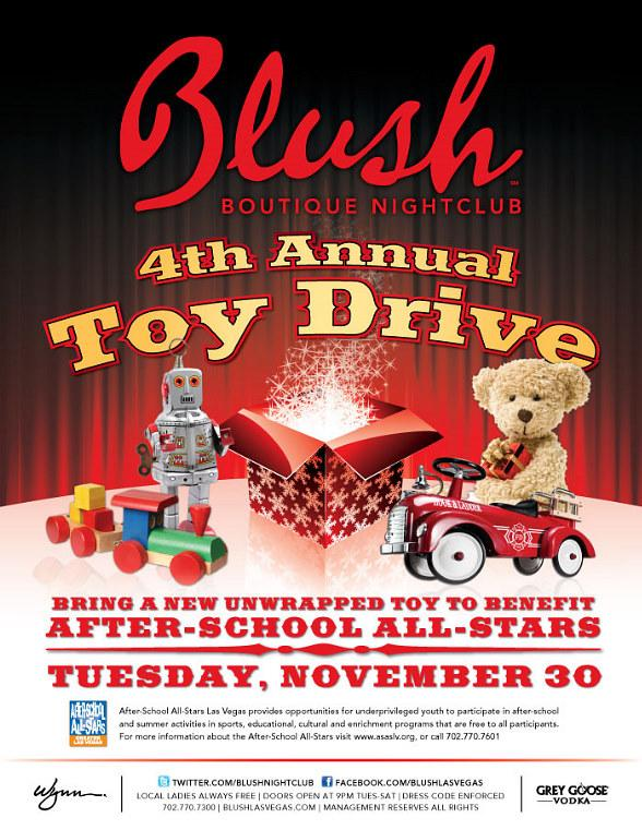 Blush Boutique Nightclub host Toy Drive to Benefit The After-School All-Stars