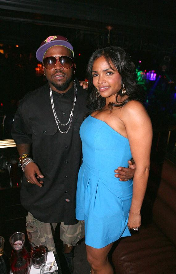 Big Boi from Outkast and his wife at Body English's Sunday School