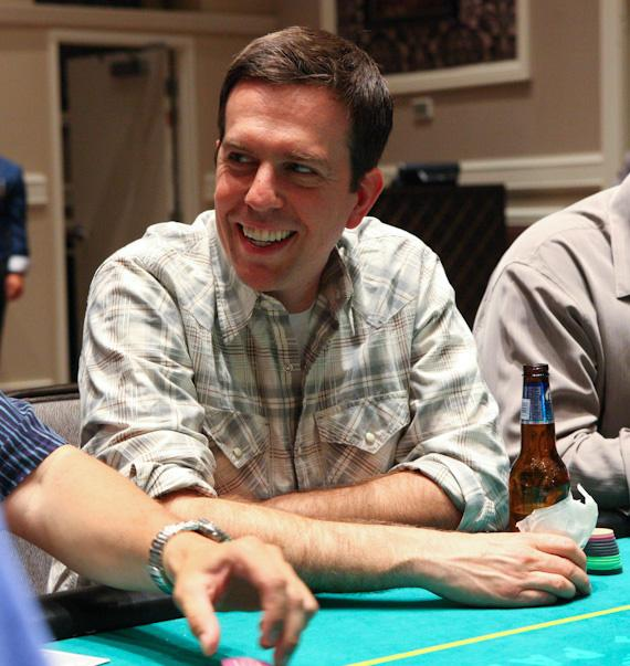 Ed Helms at 'The Hangover' Poker Tournament at Caesars Palace