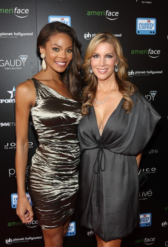 Miss USA 2008 Crystle Stewart and Alicia Jacobs