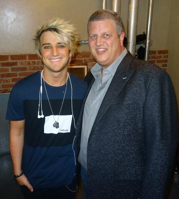 American Idol Alum and third place finisher on the final season, Dalton Rapattoni with the D Las Vegas owner Derek Stevens