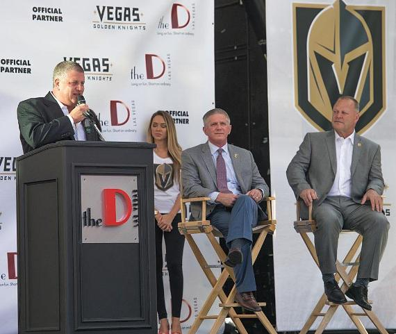 The D Las Vegas and Vegas Golden Knights Announce 6-year Partnership