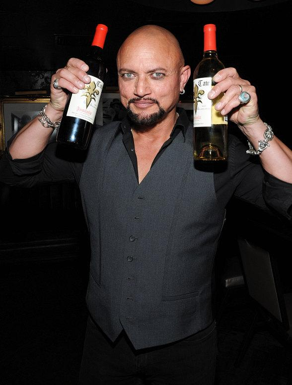 Geoff Tate with his signature wines at Body English