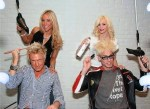 Las Vegas' two most famous hairdos get touched up at The Style Lounge! Electric violinist Lydia Ansel touches up the hair of boyfriend Chris Phillips (of Zowie Bowie) and dancer/model Chloe Crawford applies some hairspray to husband, Comedy Magician Murray SawChuck