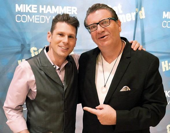 On-Air Personality Jonathan Scott visits The Mike Hammer Comedy Magic Show at Four Queens Hotel and Casino