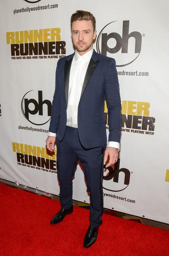 Justin Timberlake at Runner Runner premiere at Planet Hollywood in Las Vegas