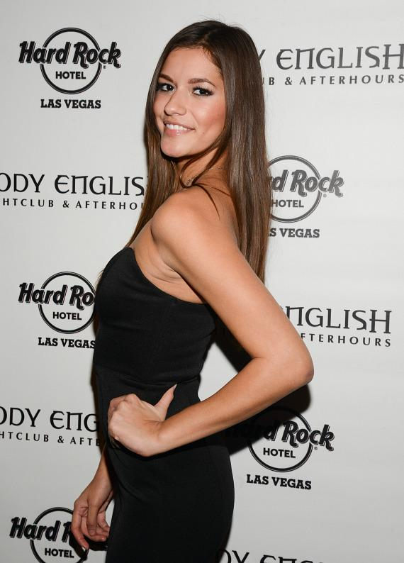 Vanessa Hanson at UFC 168 After Party at Body English Nightclub in Hard Rock Las Vegas