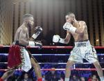 Knockout Night Main Event Fighters Tony Lopez, Jr. and Stephon 'Showstopper' Young at DLVEC in Las Vegas