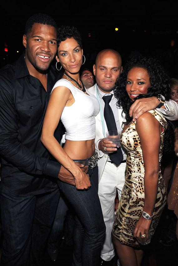 Michael Strahan, Nicole Mitchell, Stephen Belafonte and Mel B at TAO