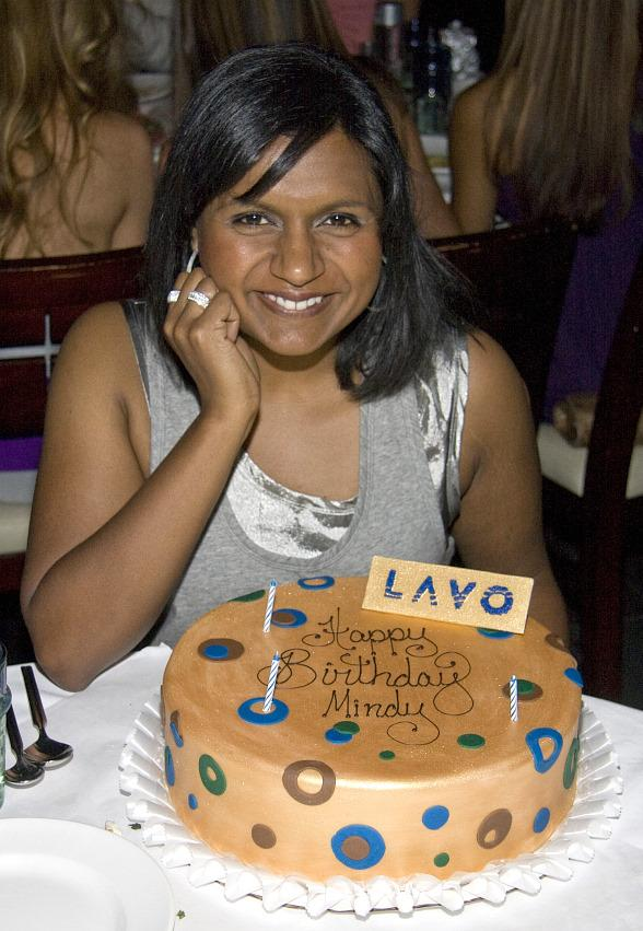 """Mindy Kaling of """"The Office"""" Celebrates 30th Birthday at LAVO"""