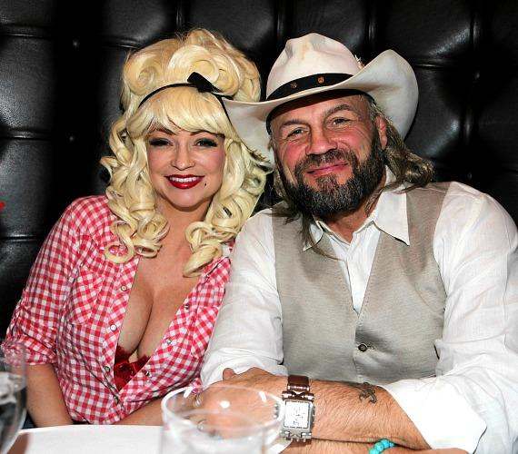 MMA Legend Randy Couture with actress Mindy Robinson dining at Andiamo Las Vegas on Halloween 2018