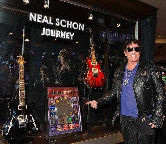 Journey unveils new memorabilia cases at The Joint at Hard Rock Hotel & Casino