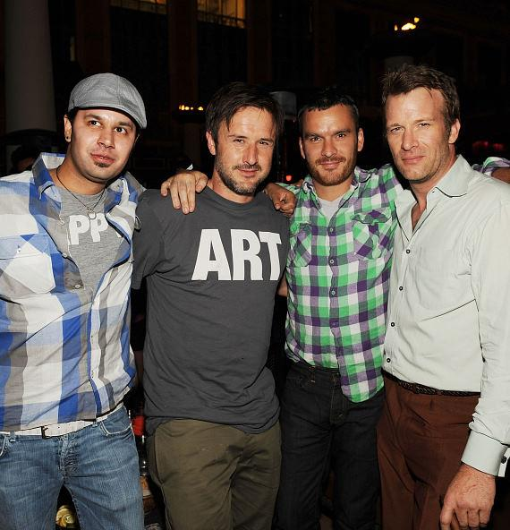 Navin Marang, David Arquette, Balthazar-Getty and Thomas Jane at TAO