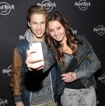 Ryan Beatty with fans at Hard Rock Cafe on the Strip