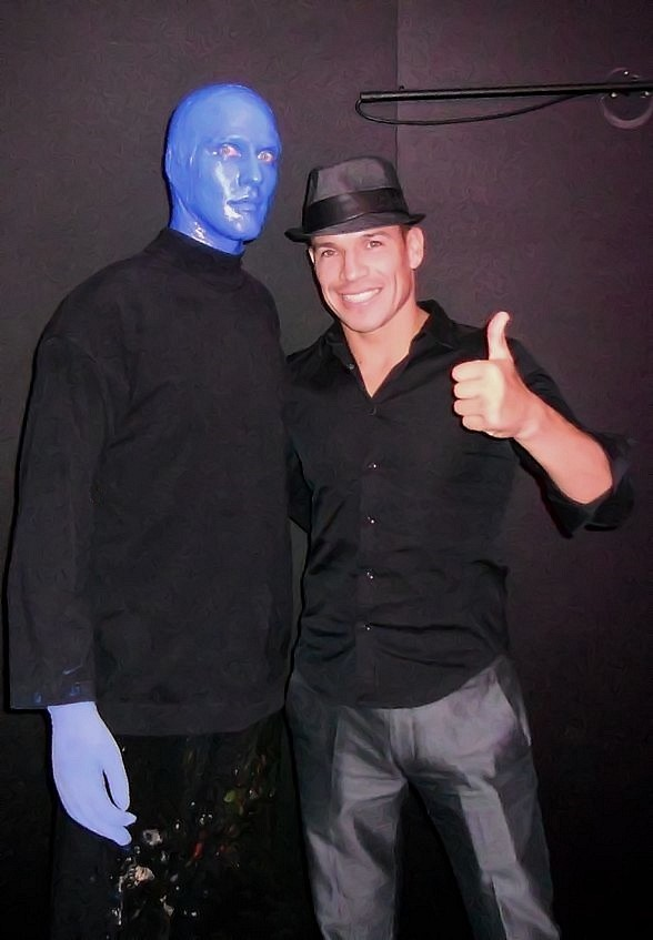 Pro Boxer Sergio Martinez Attends Blue Man Group Las Vegas