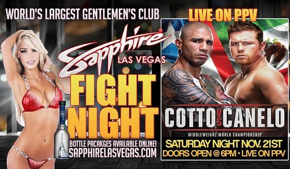 Watch Cotto vs. Canelo live on PPV at Sapphire Las Vegas!