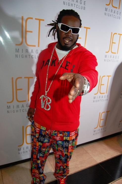 T-Pain on the red carpet at Jet Nightclub in The Mirage