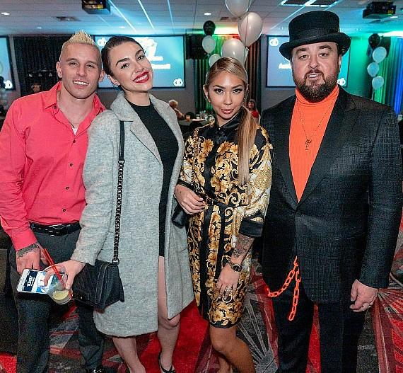 Rapper Mikey P, MTV Kailah Casillas, Olivia Rademann and Pawn Stars Chumlee at their D Las Vegas Pre-Wedding Party