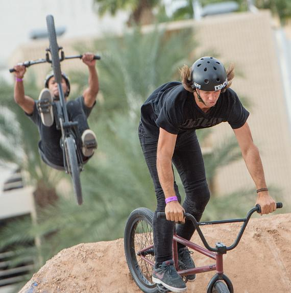 BMX riders at Downtown Las Vegas Events Center