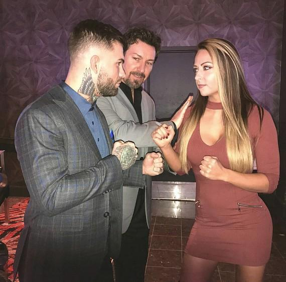 UFC Cody Garbrandt, WWE Emma and the D Executive Richard Wilk at the D Casino Hotel Las Vegas