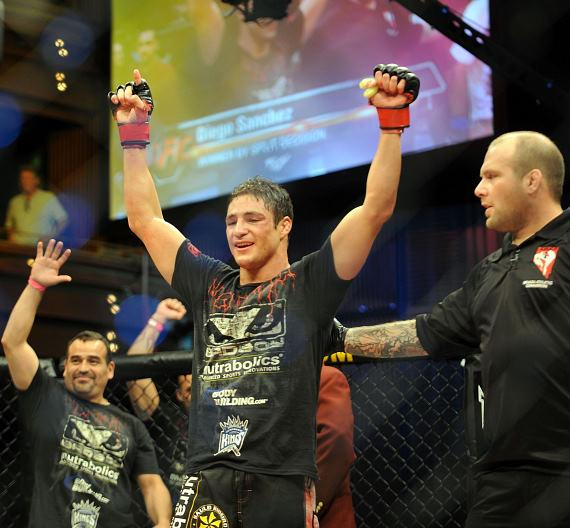 Diego Sanchez after a successful win