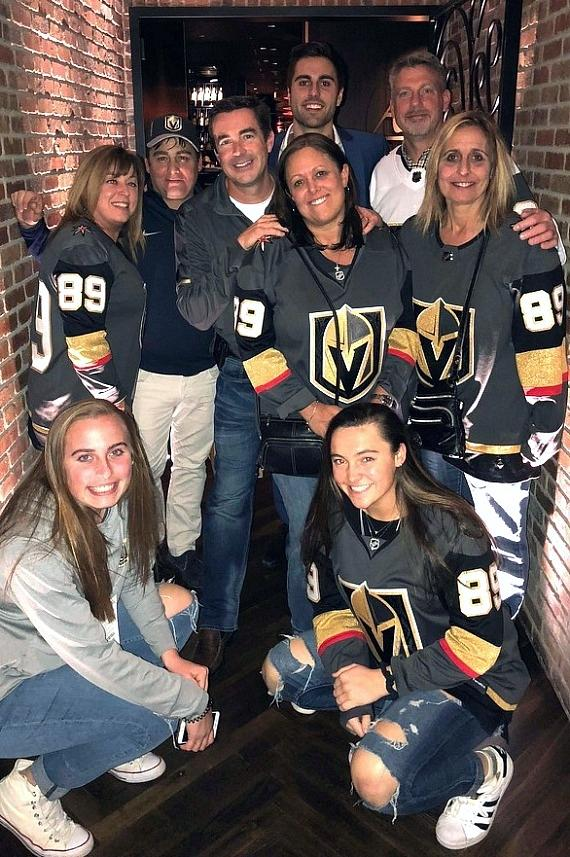 Vegas Golden Knights Alex Tuch dines with his family in Andiamo Italian Steakhouse Las Vegas