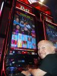 Actor Verne Troyer plays the popular TMZ Slot Machine at the D Casino Hotel in Las Vegas