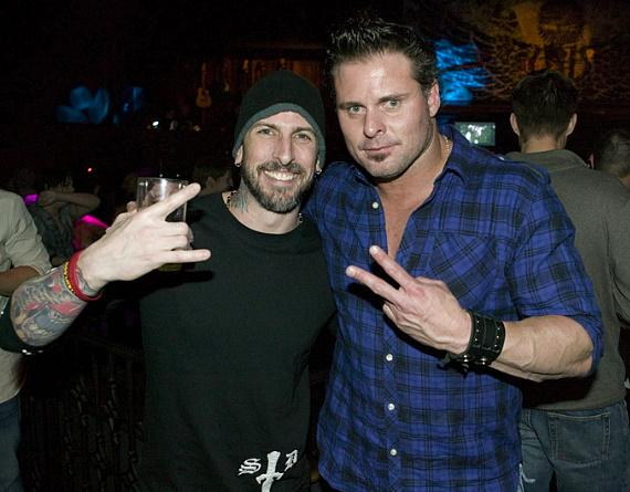 John Coonnolly and Jason Giambi at Wasted Space (Photo credit: Hard Rock Hotel & Casino)