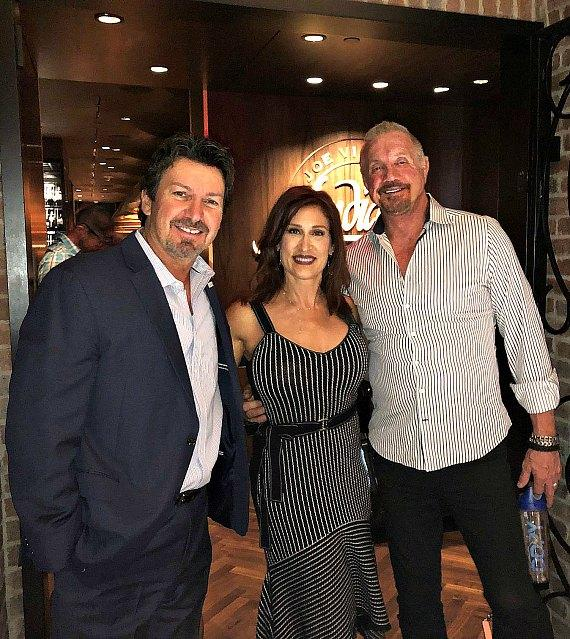 The D Executive Richard Wilk with WWE Diamond Dallas Page and his wife Brenda (C) at Andiamo Las Vegas