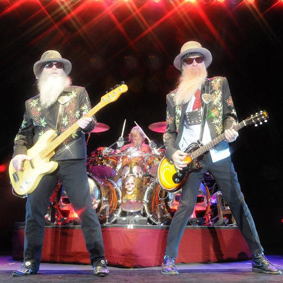 ZZ Top Performs at the Sunset Amphitheater at Sunset Station