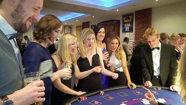 Blackjack table. One-of-a-Kind Wedding