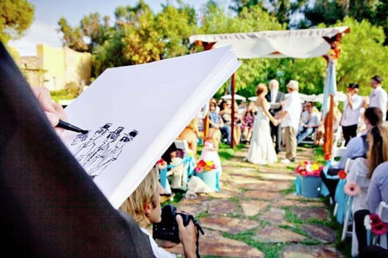 Cartoonist. One-of-a-Kind Wedding