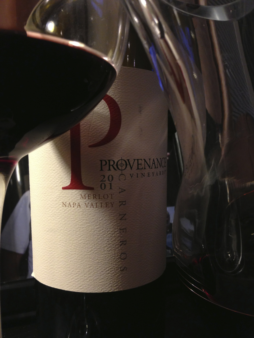 2001 Provenance Carneros Merlot