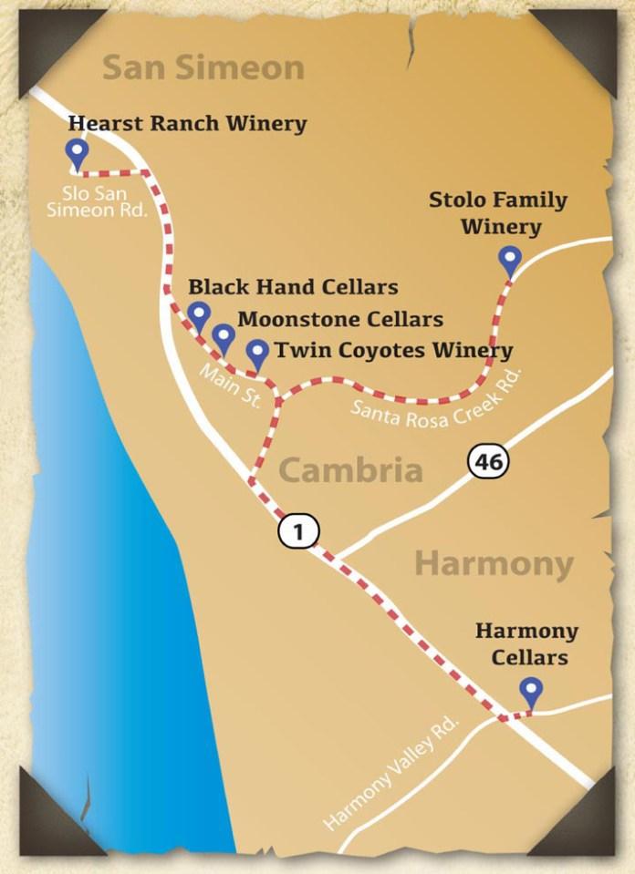 Pacific Coast Wine Trail Map