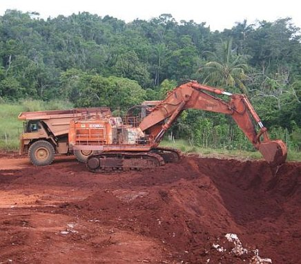 Mining bauxite