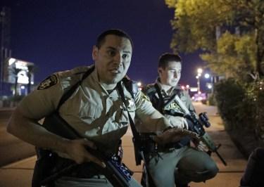 Vegas police run into the chaos