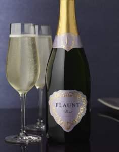 Flaunt-Sparkling-Wine-Packaging-Logo