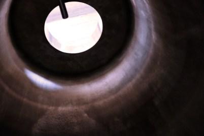 Looking up through concrete tank