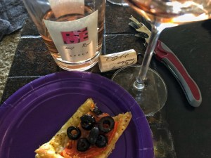 "Epoch 2017 Rosé and Phyllo ""Pizza."""