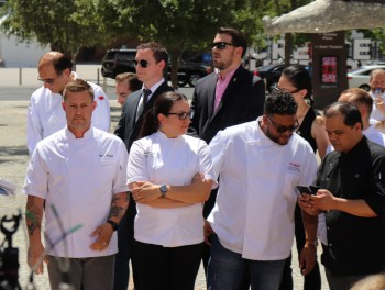 Chefs lining up