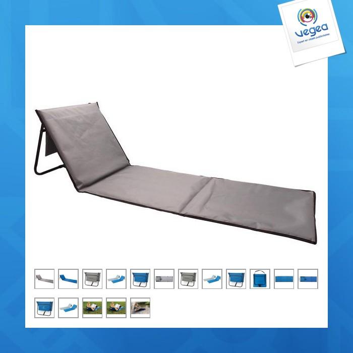 chaise longue de plage pliable