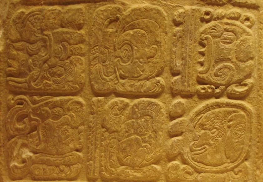 Hieroglyphic Panel, limestone, 650/800 CE, Late Classic Maya; Usumacinta River area, Mexico or Guatemala