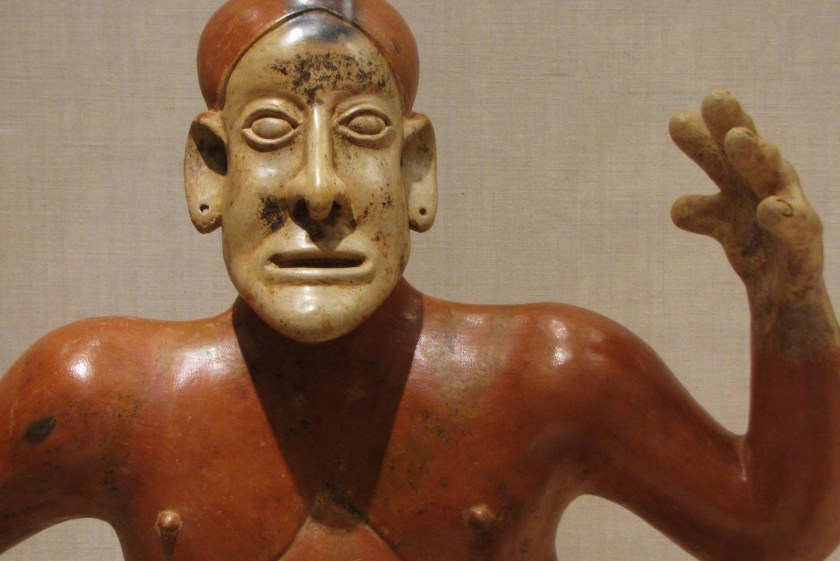 Storyteller Figure, ceramic and pigment, 100/800 CE, Jalisco; Ameca Valley, Jalisco, Mexico