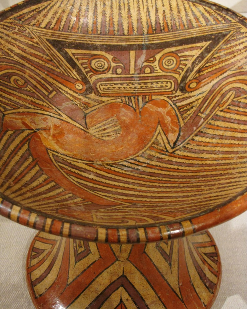 Pedestal Bowl, ceramic and pigment, 1100/1300 CE, Coclé; possibly La Peña, Veraguas province, Panama