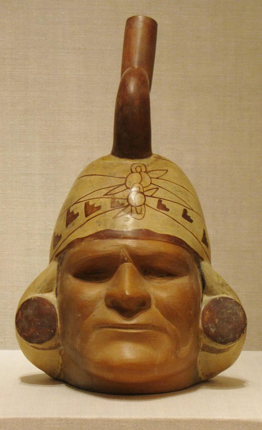 Portrait Vessel of a Ruler, ceramic and pigment, 100 BCE/500 CE, Moche; North coast, Peru